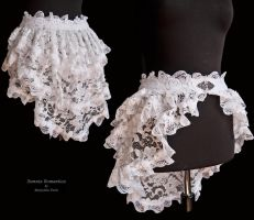 Bustle skirt white lace, by Somnia Romantica by SomniaRomantica
