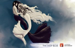 Hero challenge, The Deep Blue ~Harmony~ by Titi-Draws