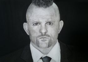 CHARCOAL DRAWING - Chuck Liddell by kyllerkyle
