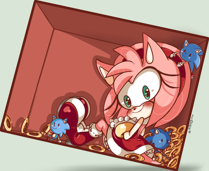 Amy in a box by chibiirose