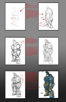My method to drawing XD by ZipDraw