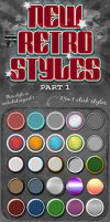 New Retro Styles Part 1 by designercow