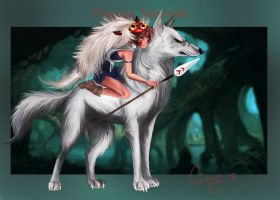 Princess Mononoke by Chtitexxpeste