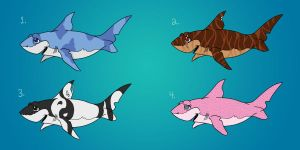 Sharks Adoptables CLOSED by GuardianDragon1