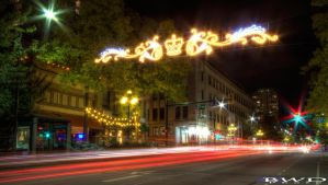 Columbia Street in Lights by bcdirector