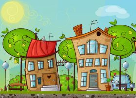 Cartoon House by lazunov