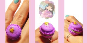 Grape Macaroon Ring by colourful-blossom