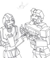 Mirage and Hound by WheelJack-1