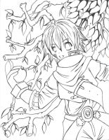 .hack lineart by choirfolk