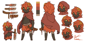 autumn plant girl ref by kmau