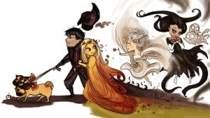 Hades Happy Family (chibi) by Arbetta