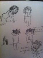 Just some depressing sketches by Opal-the-fluffmaker