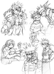 Misc. Naruto Sketches II by ahnline