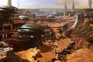 Slums in Mars by RubenDrakkar