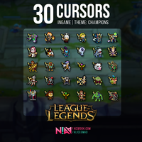 30 Champion Cursors Ingame #2 - League of Legends by AliceeMad
