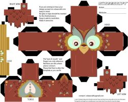 owl cubeecraft by SlaterAW