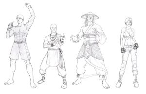 Mortal Kombat Sketches by khazen