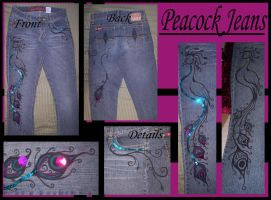 my peacock jeans by silverhart