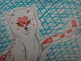 the heart of a cat by jitterfly