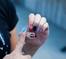 Mass Effect Manicure #2 by mistressling