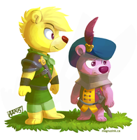 Defenders of Gummi Glen: Sunni + Cubbi by weremagnus