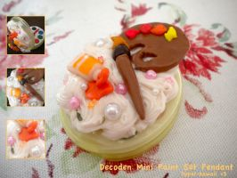 Decoden mini paint set Pendant by hyper-kawaii