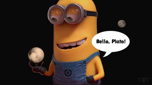 Minion holding the Pluto by otettttt