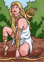 Artemis Sketch Card - Classic Mythology by ElainePerna