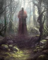 Dude in forest by yonaz
