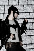 greaser  batman taking a drag after a long day by joshspiderman238