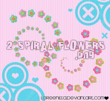 Spiral Flowers by Loreenitta