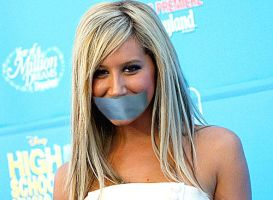 Ashley Tisdale Gagged a reques by The-email