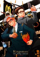 Kingsman+Happy Meal by xanseviera