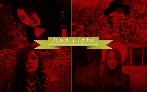 Red Light Psd Coloring by selkkie