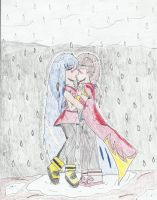 together in the rain(theme 30/100 under the rain ) by Shane-zero