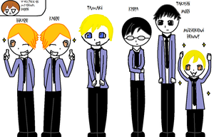 Ouran Cast by OriginalOutani