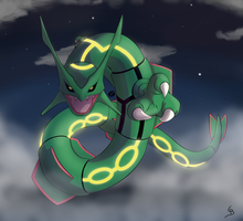 Collab: Rayquaza by Dark-wings-eagle