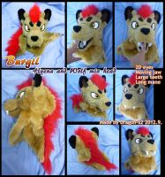 Burgil the hyena/wolf hybrid head by dragon-x2