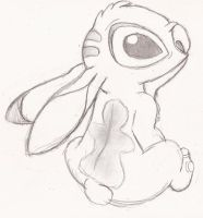 first time sketch of stich by speckledmindphoenix