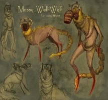 Mossy Well Wolf (design trade with Coey) by CannedTalent