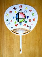 Smash Bros. Universe Uchiwa by JazzyTyfighter