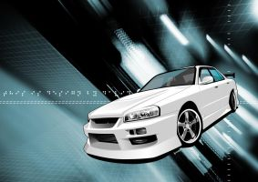 Skyline ER34 2 version by iyodesign