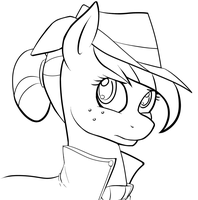 Applejack Lineart by Acesential