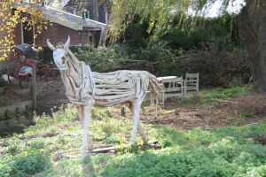 horse made out of roots by priesteres-stock