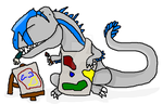 Carcharodontosaurus Can't Paint! by BaryMiner
