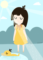 The Psyduck Girl by hotcoco7946