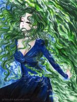 Michiru Kaioh  - one with the sea by zelldinchit