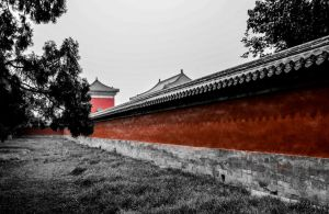 Red Wall - Temple of Heaven Beijing Cina by Studio5Graphics