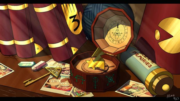 Gravity Falls- Mystery box by AlinaCat923