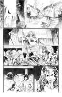 Red Sonja pencil page6 by PaulRenaud